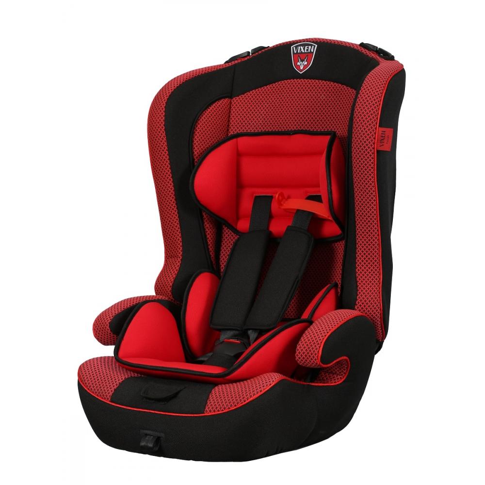 Детское автокерсло vixen оникс, группа 1/2/3, цвет красный 4603745682188