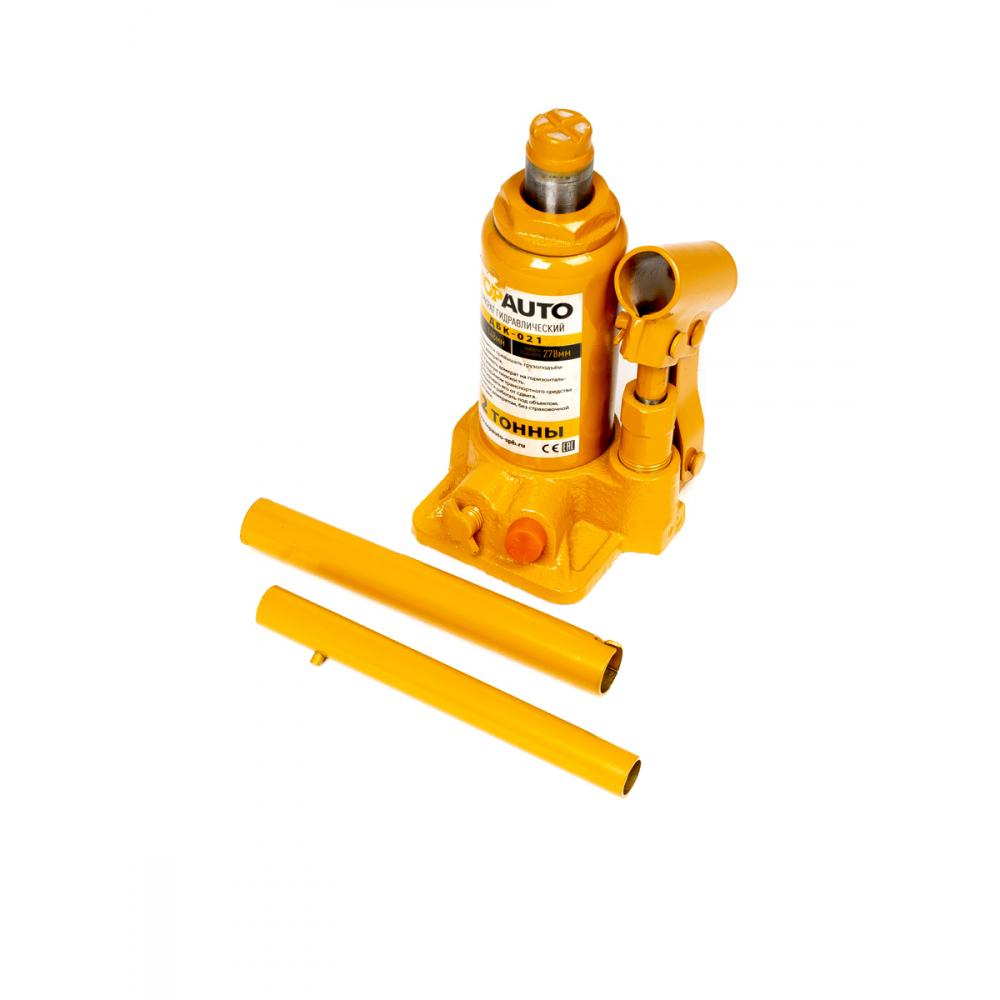 Купить Гидравлический бутылочный домкрат topauto 2 т, h 148-278 мм, с клапаном, в коробке дбк-021