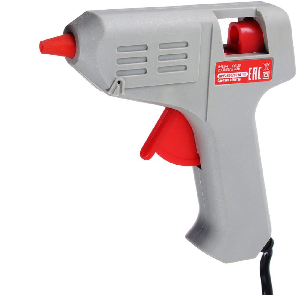 Электрический клеевой пистолет falco gg-20, 2 стержня 646-261