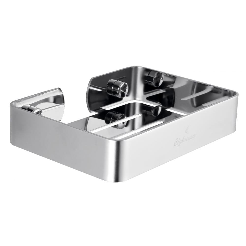 Купить Полка для ванной elghansa 97х135 мм, нержавеющая сталь un-510-steel