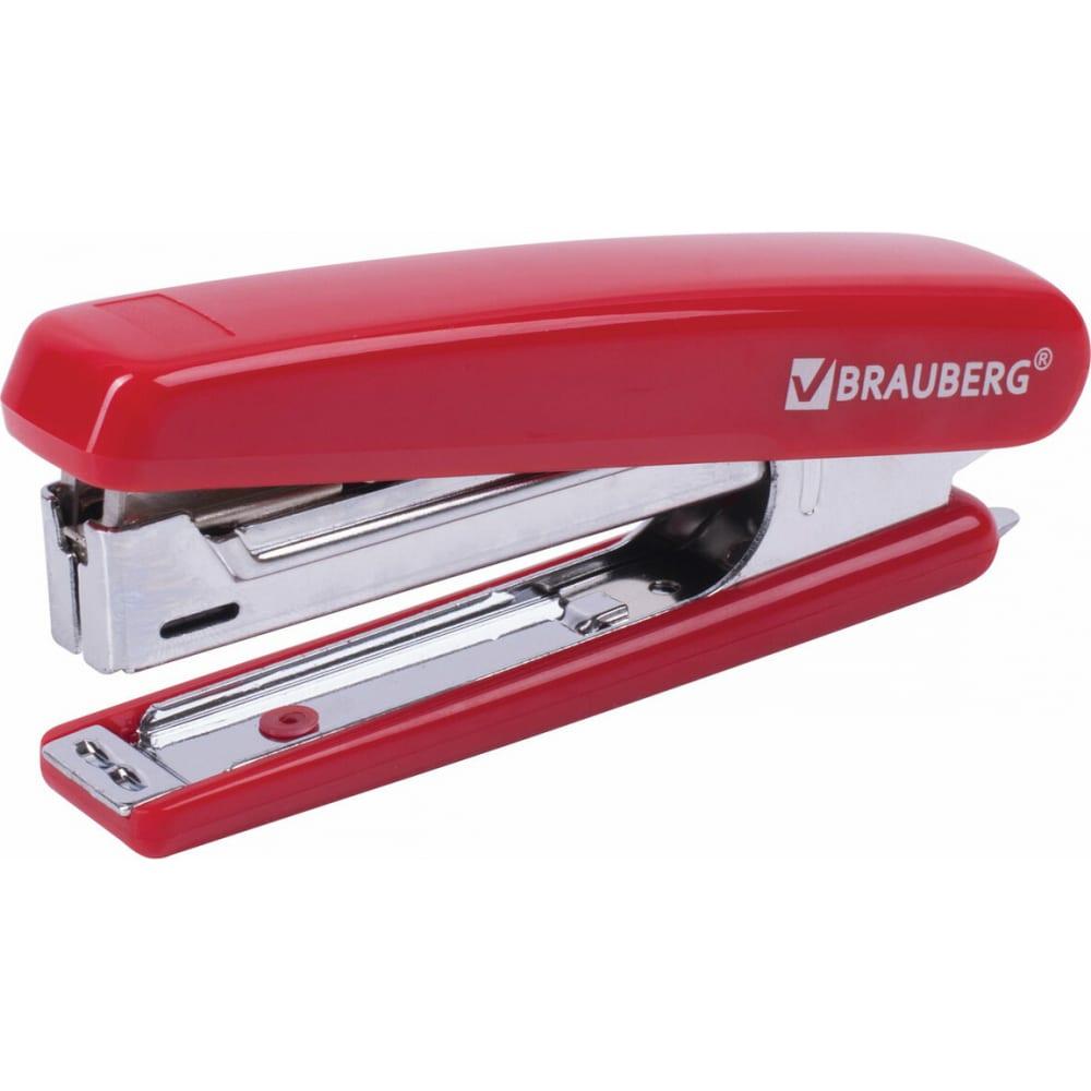 Купить Степлер №10 brauberg classic, до 12 листов, с антистеплером, красный, 228500
