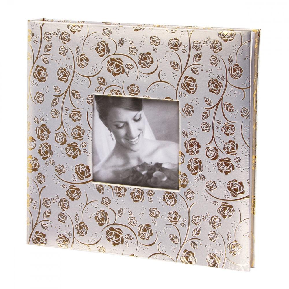 Купить Фотоальбом brauberg свадебный, 20 магнитных листов 30x32 см, под фактурную кожу, бело-золотой, 391126