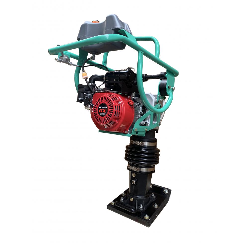 Бензиновая вибротрамбовка giks двигатель honda gx160, 5,5 л.с. 70кг rm80h