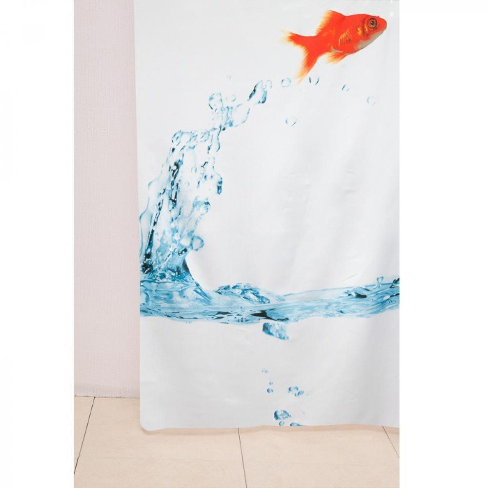 Купить Штора для ванной delphinium ws-817 рыбка, 180х180 104160