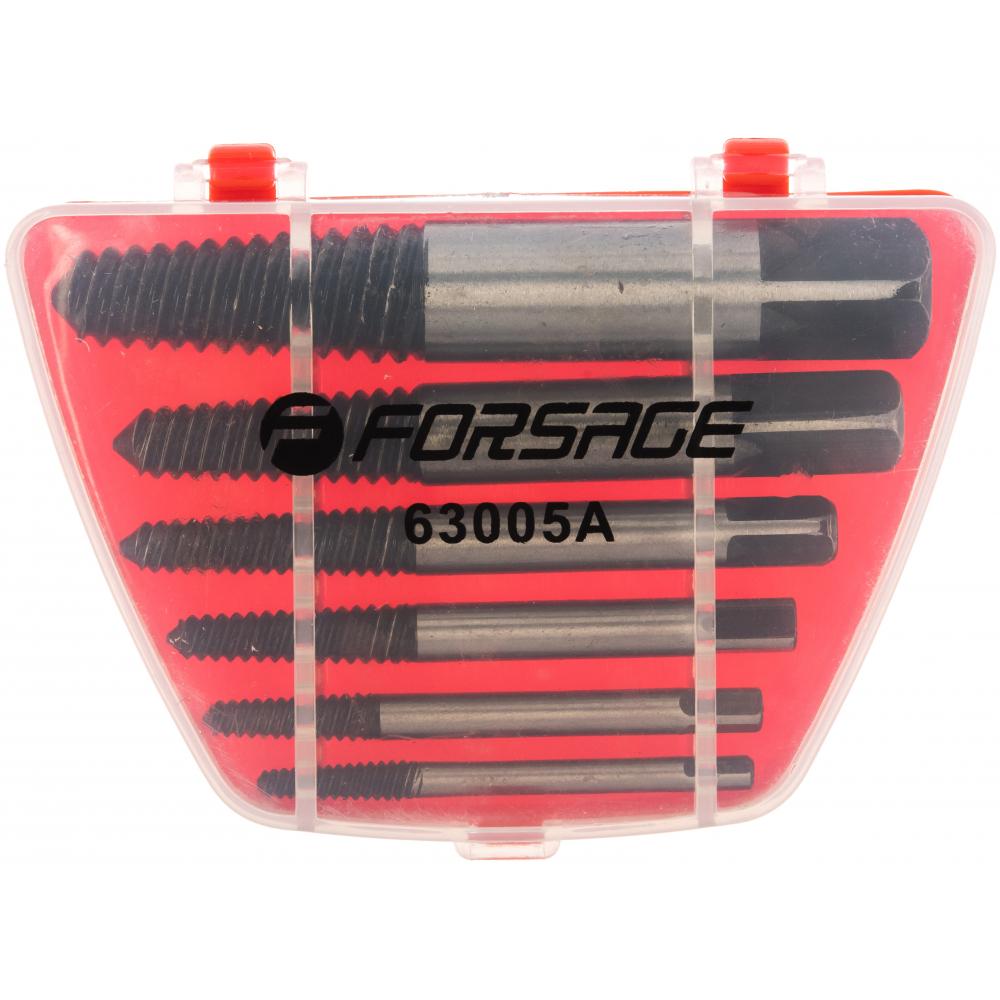 Купить Набор экстракторов резьбы forsage hss 4241, 5 пр., в пластиковом футляре 7372