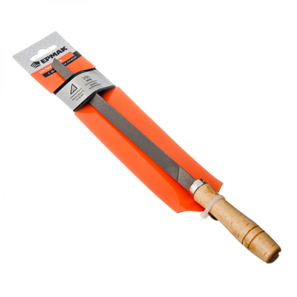 Купить Напильник с деревянной ручкой ермак трехгранный 200мм, №2 645-008
