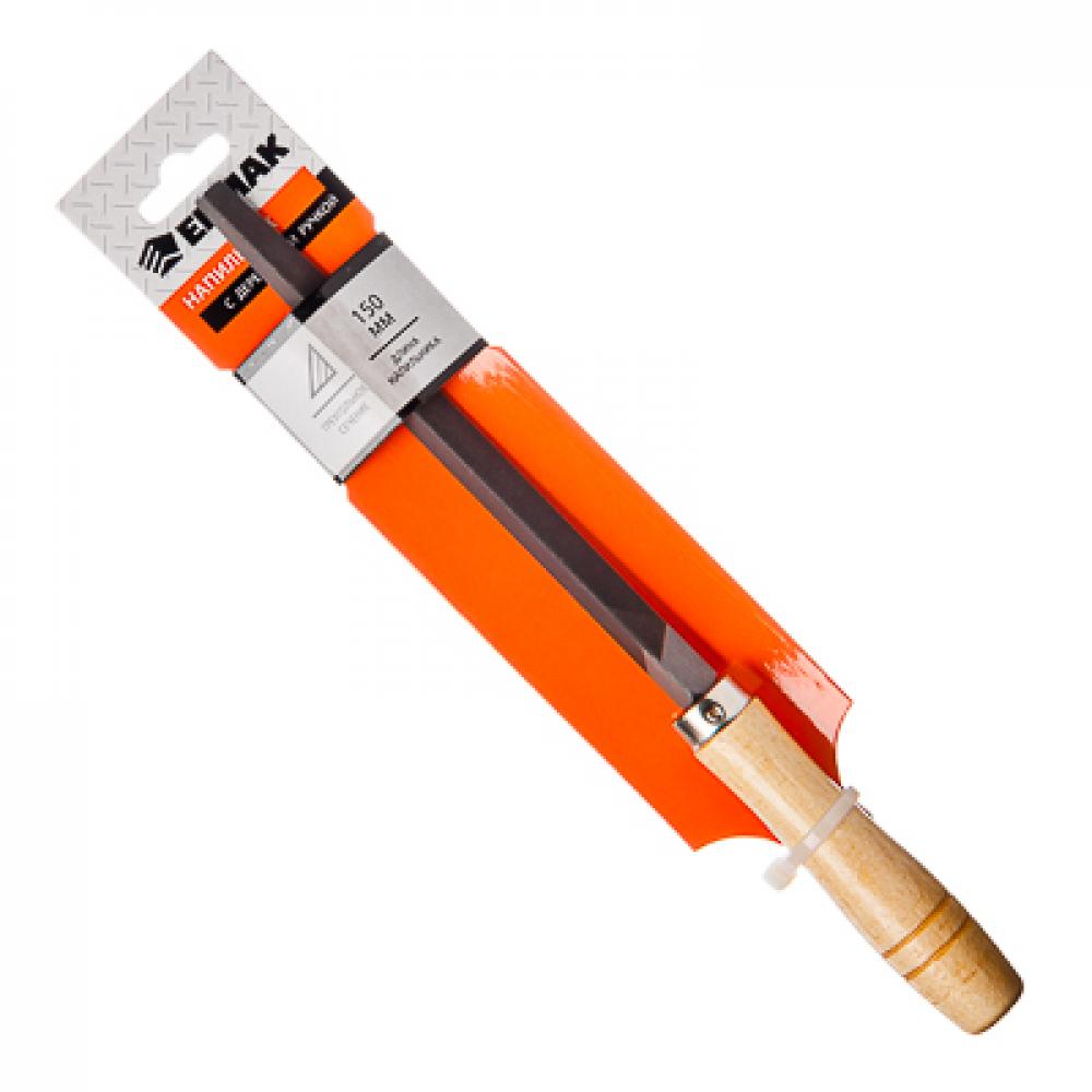 Купить Напильник с деревянной ручкой ермак трехгранный 150мм, №2 645-007
