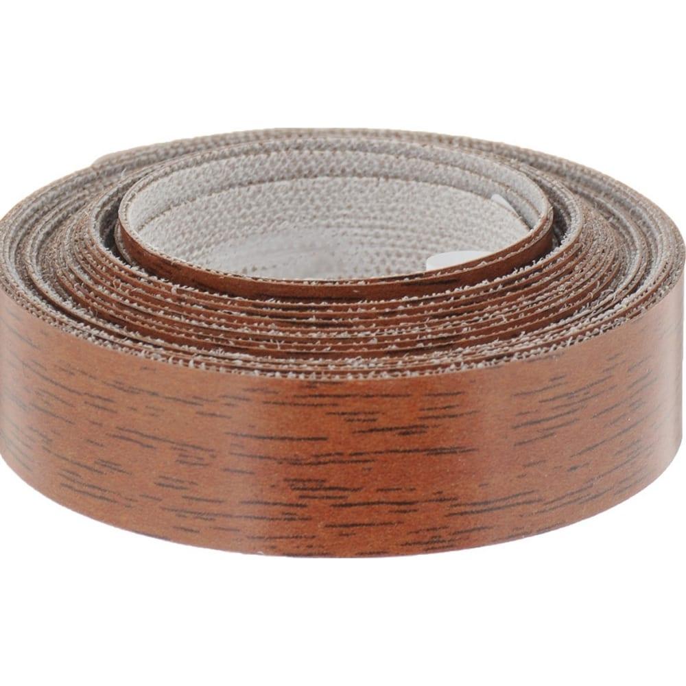 Купить Кромочная меламиновая лента с клеем tech-krep 19 мм, орех средний, 5 м 109917