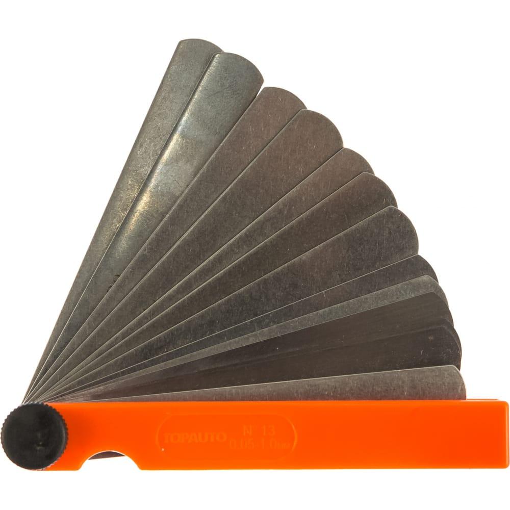 Купить Щупы для измерения зазоров topauto набор №13, 100мм, 13листов, 0.05-1.0мм, пластик, блистер ищ13100 - п