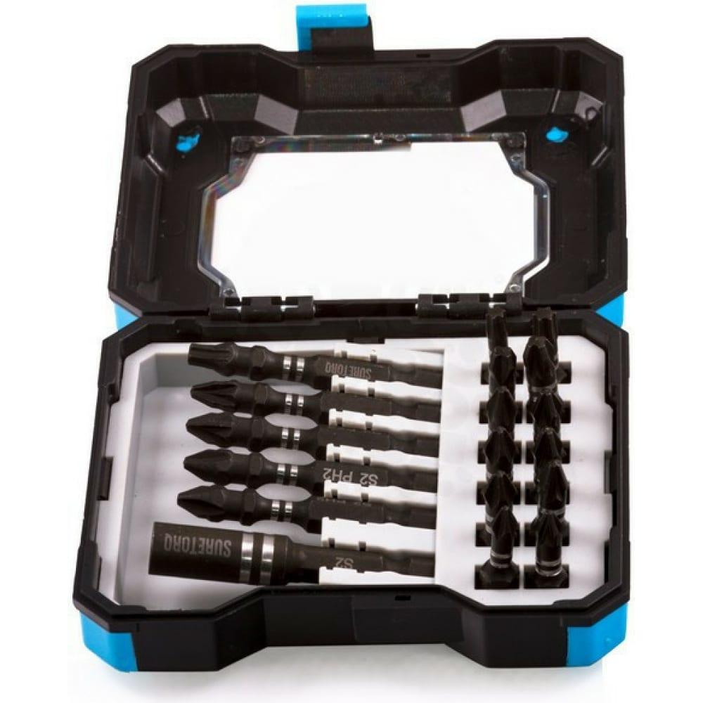 Купить Набор бит с магнитным держателем 18 предметов suretorq 0410-1801