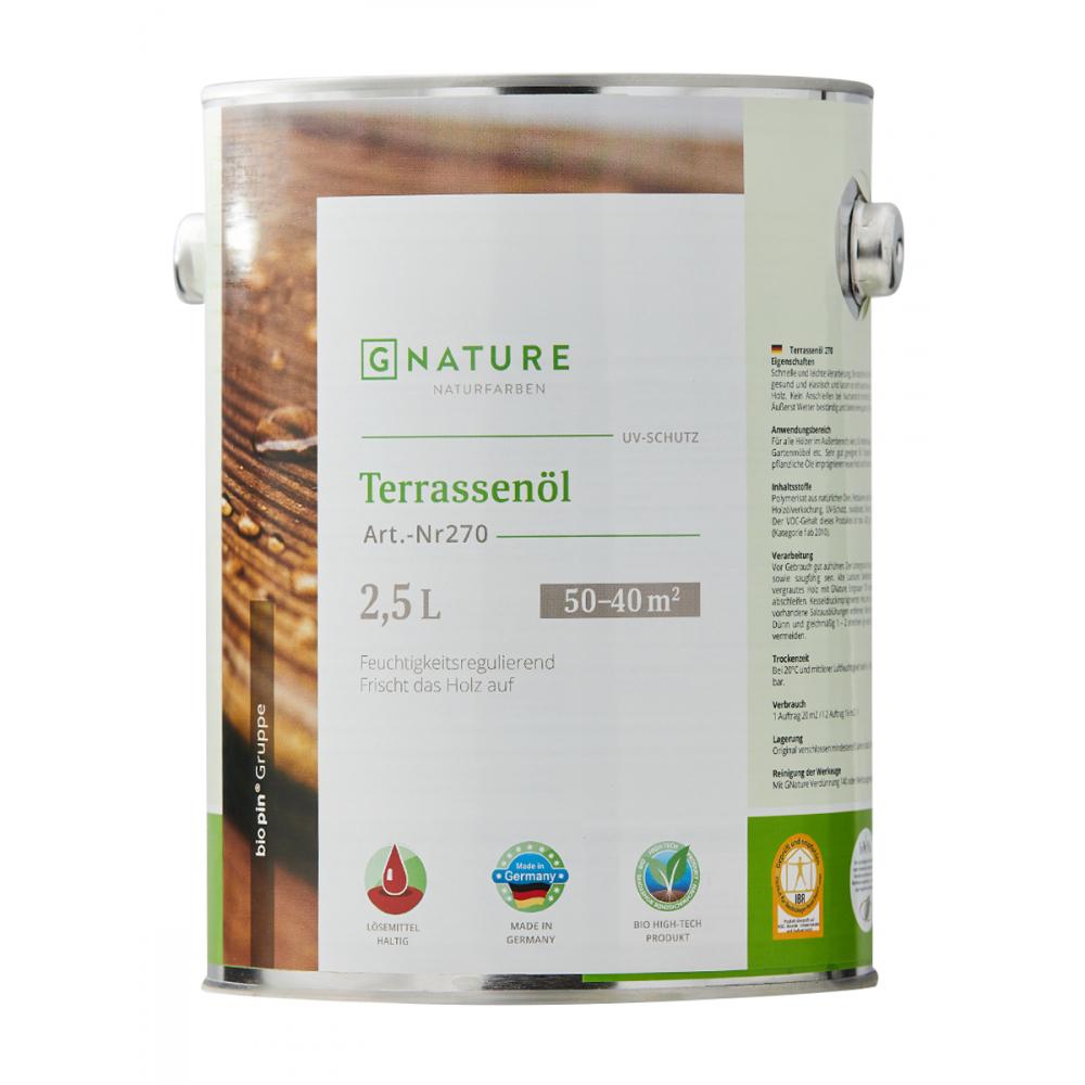 Масло для террас gnature 270 terrassenol, цвет