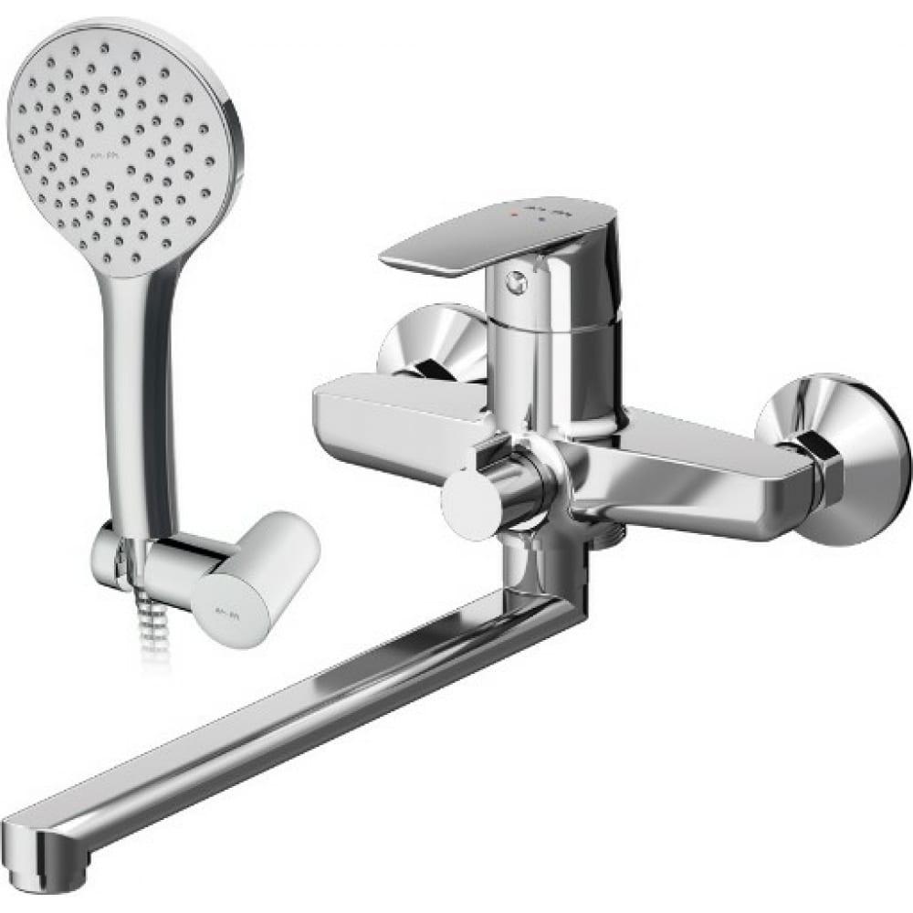 Купить Смеситель для ванны/душа am.pm, gem излив 320 мм, душевой набор f90a95000