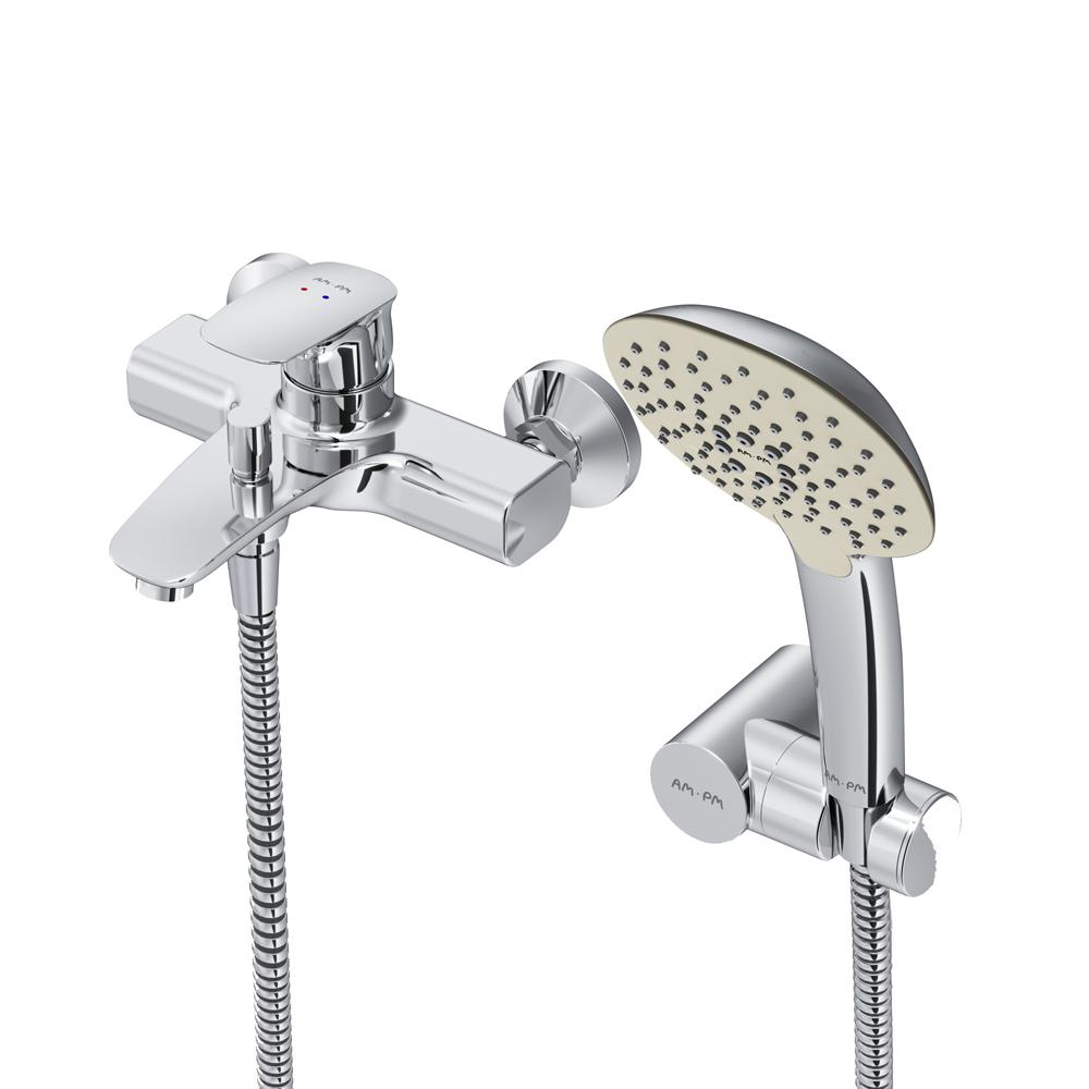 Купить Смеситель для ванны/душа am.pm spirit v2.1 душевой набор, хром f71a15000