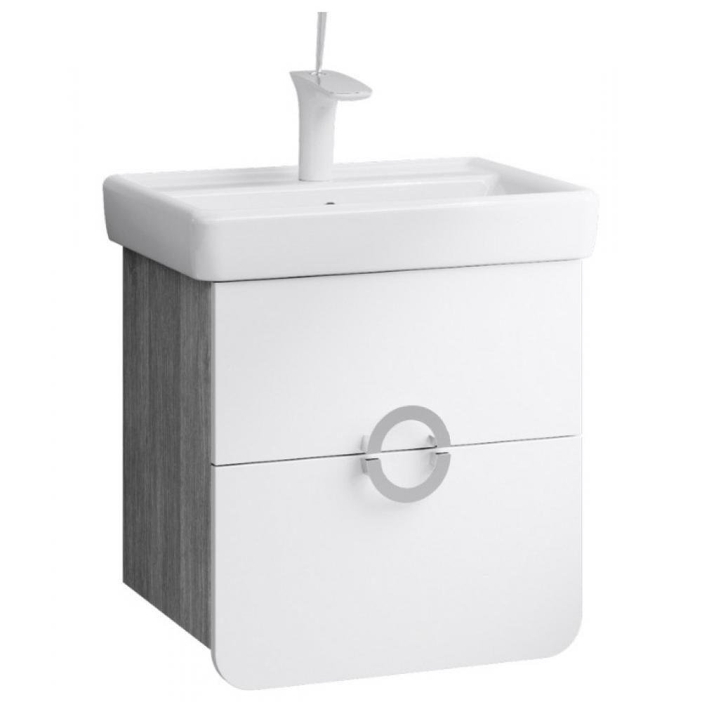 Купить Подвесная тумба под умывальник aqwella аликанте с ящиками, цвет дуб седой alic.01.05/gray