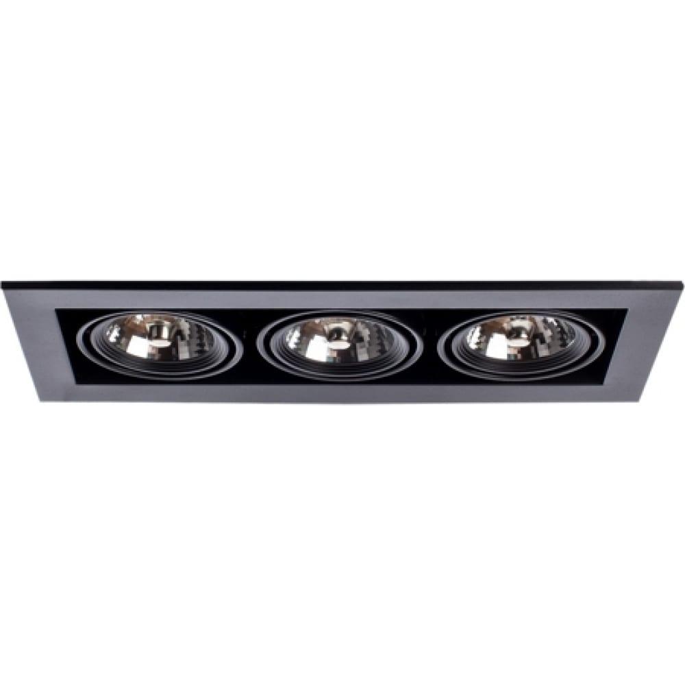Потолочный поворотный светильник arte lamp a5930pl-3bk