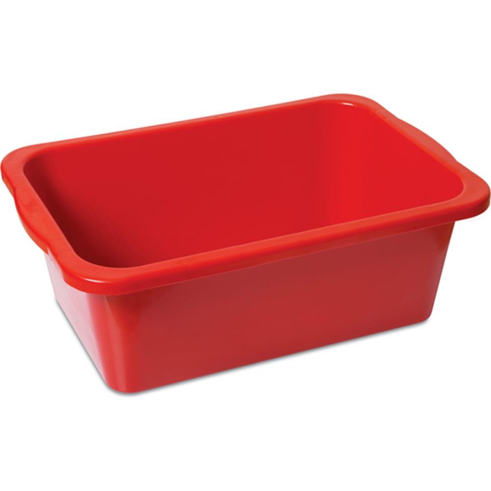 Красный пластиковый строительный таз dkr 35 л 710