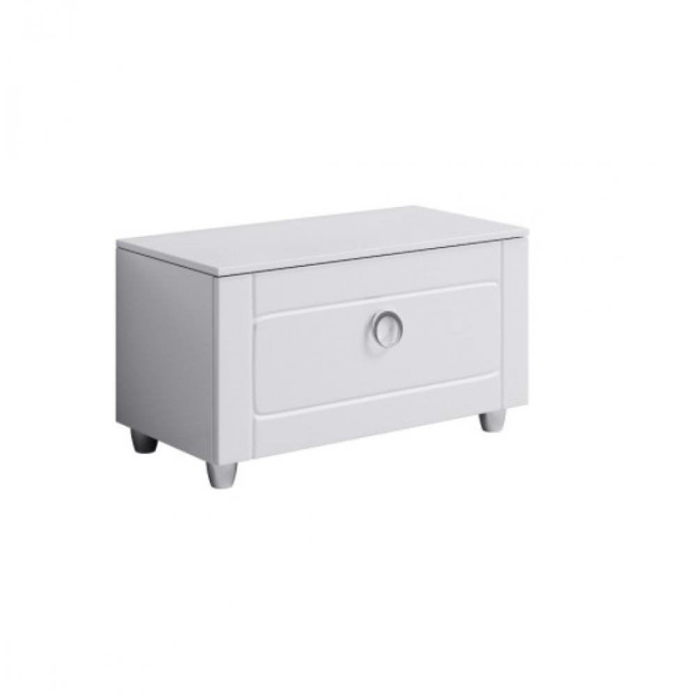 Купить Напольная тумба с ящиком aqwella инфинити, цвет белый inf.03.08