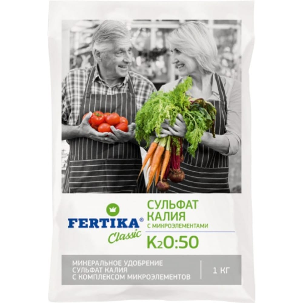 Минеральное удобрение fertika сульфат калия 1 кг 4620005610309