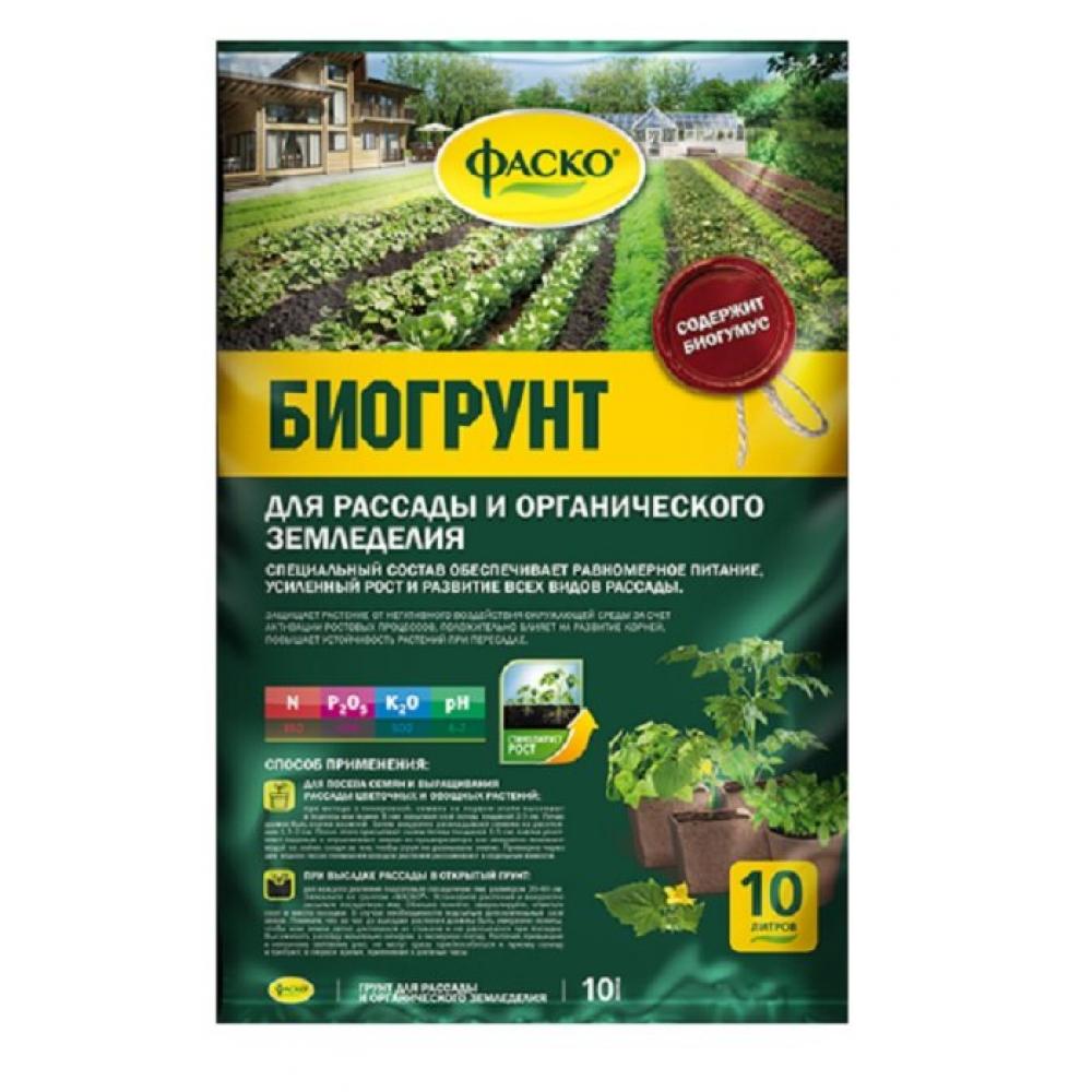 Купить Грунт для рассады и органического земледелия с биогумусом фаско 10 л тп0201фас09