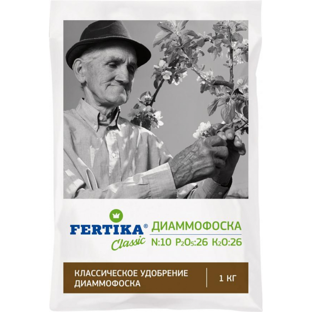 Минеральное удобрение fertika диаммофоска 1 кг 4620005612662
