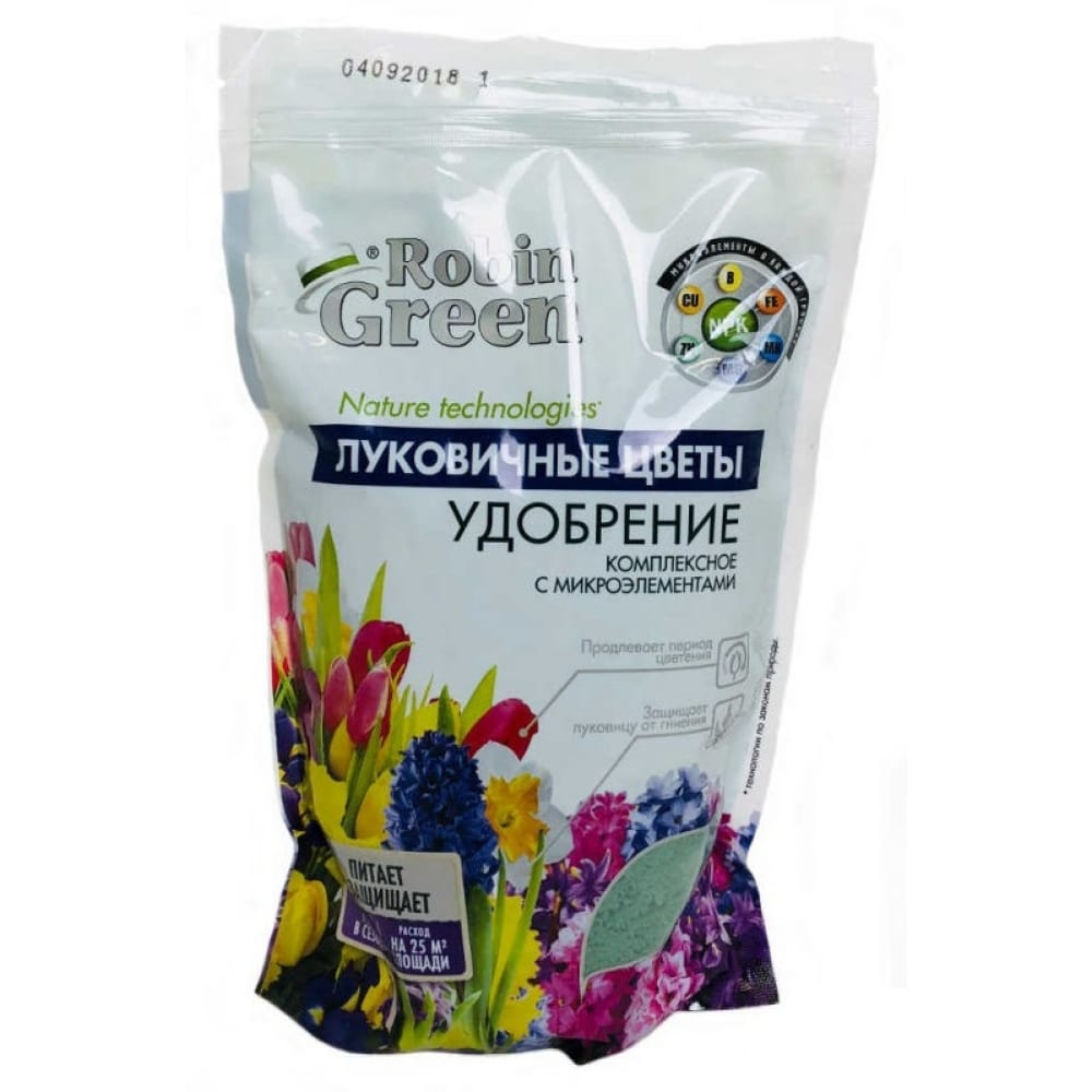 Купить Сухое минеральное гранулированное удобрение робин грин луковичные цветы 1кг уд0102rob11