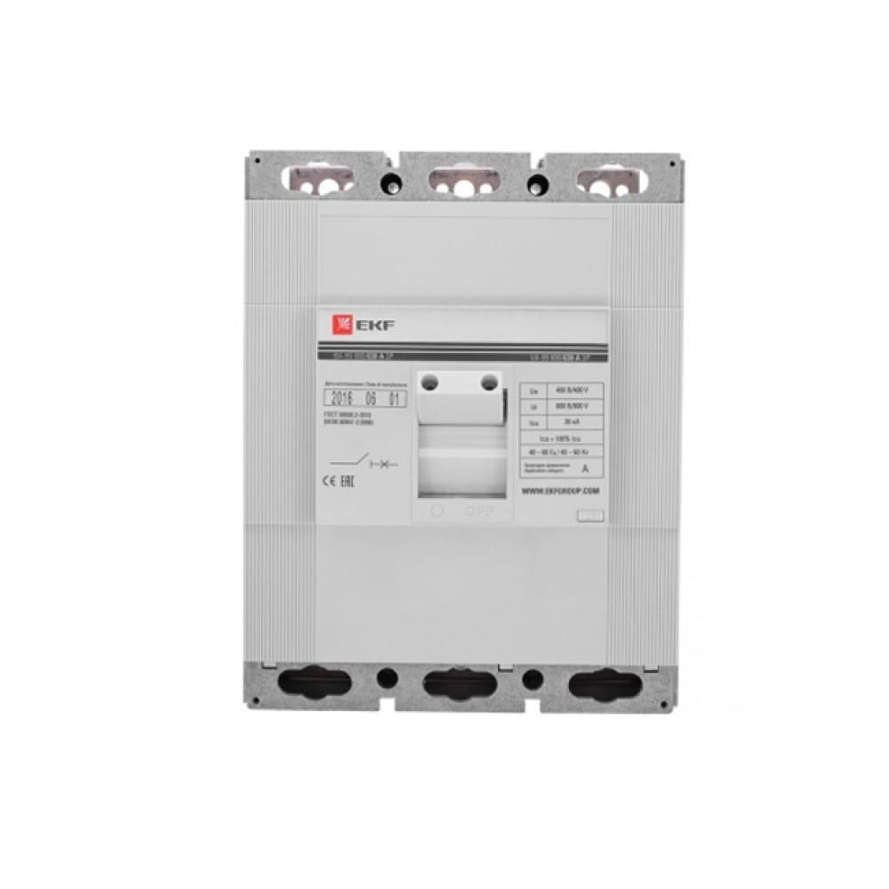 Автоматический выключатель ekf proxima ва-99, 800/400а, 3p, 35ка sqmccb99-800-400