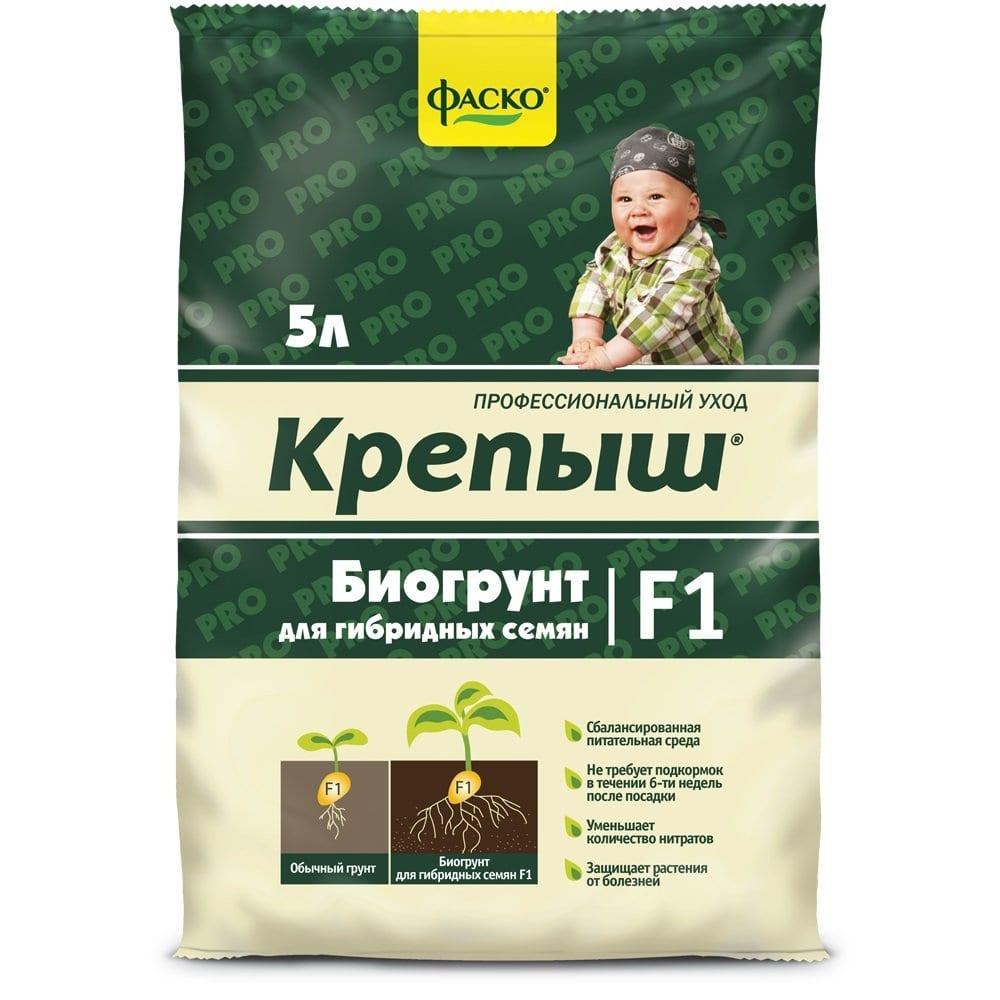 Грунт для рассады гибридных семян фаско крепыш 5 л тп0101кре07