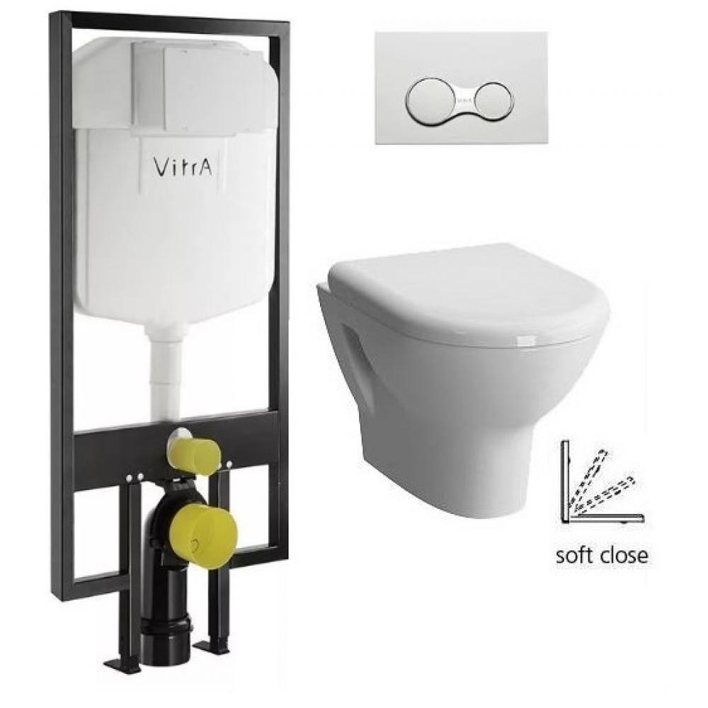 Купить Подвесной унитаз vitra zentrum с инсталляцией ипанелью управления 9012b003-7206