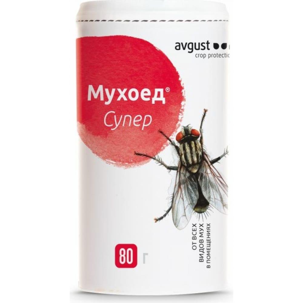 Купить Гранулы от всех видов мух avgust мухоед супер 80 г 44317