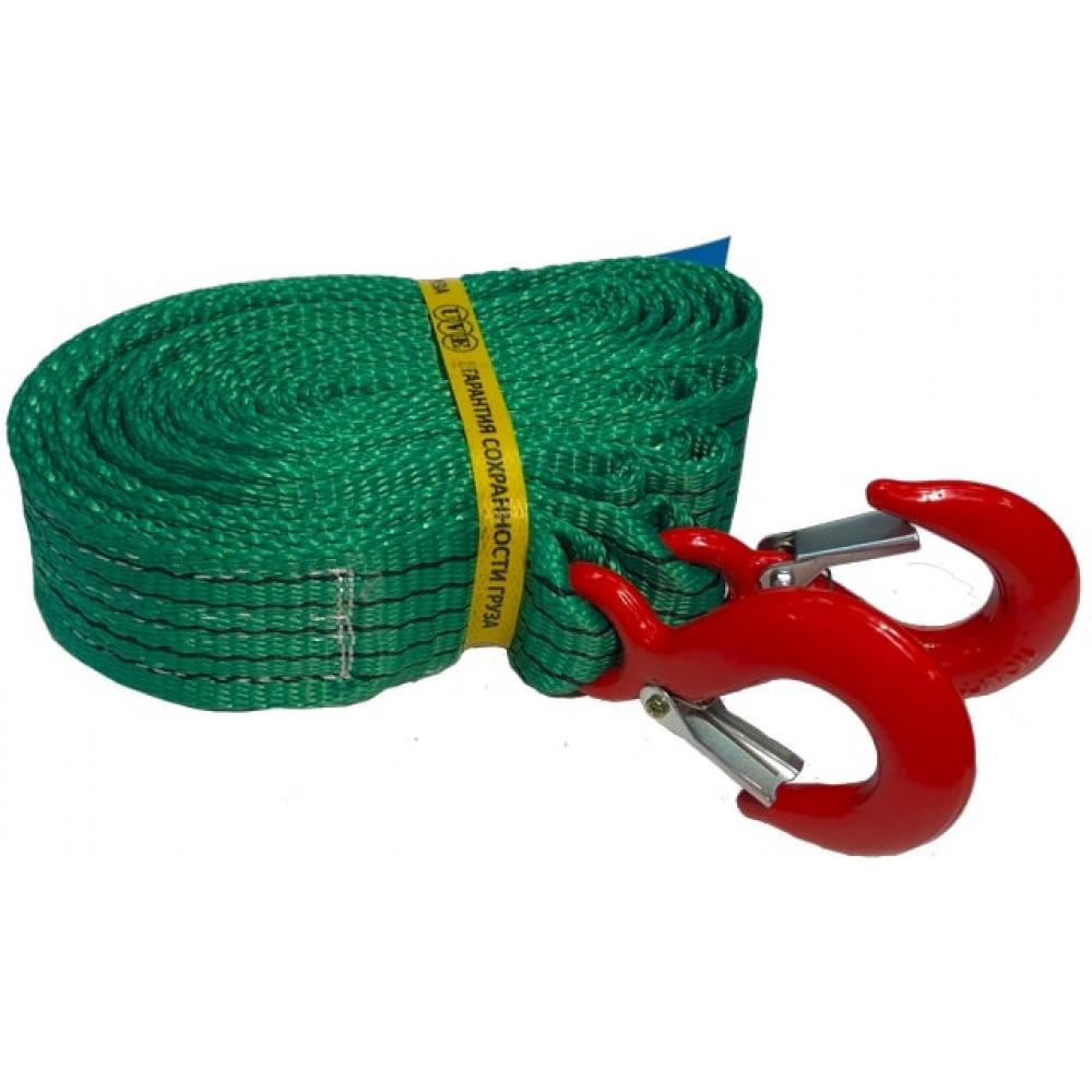 Картинка для Буксировочный трос uve 50 мм, крюк-крюк, 3,5 тн, 5 метров uvе-tb-50-7500-5-2h