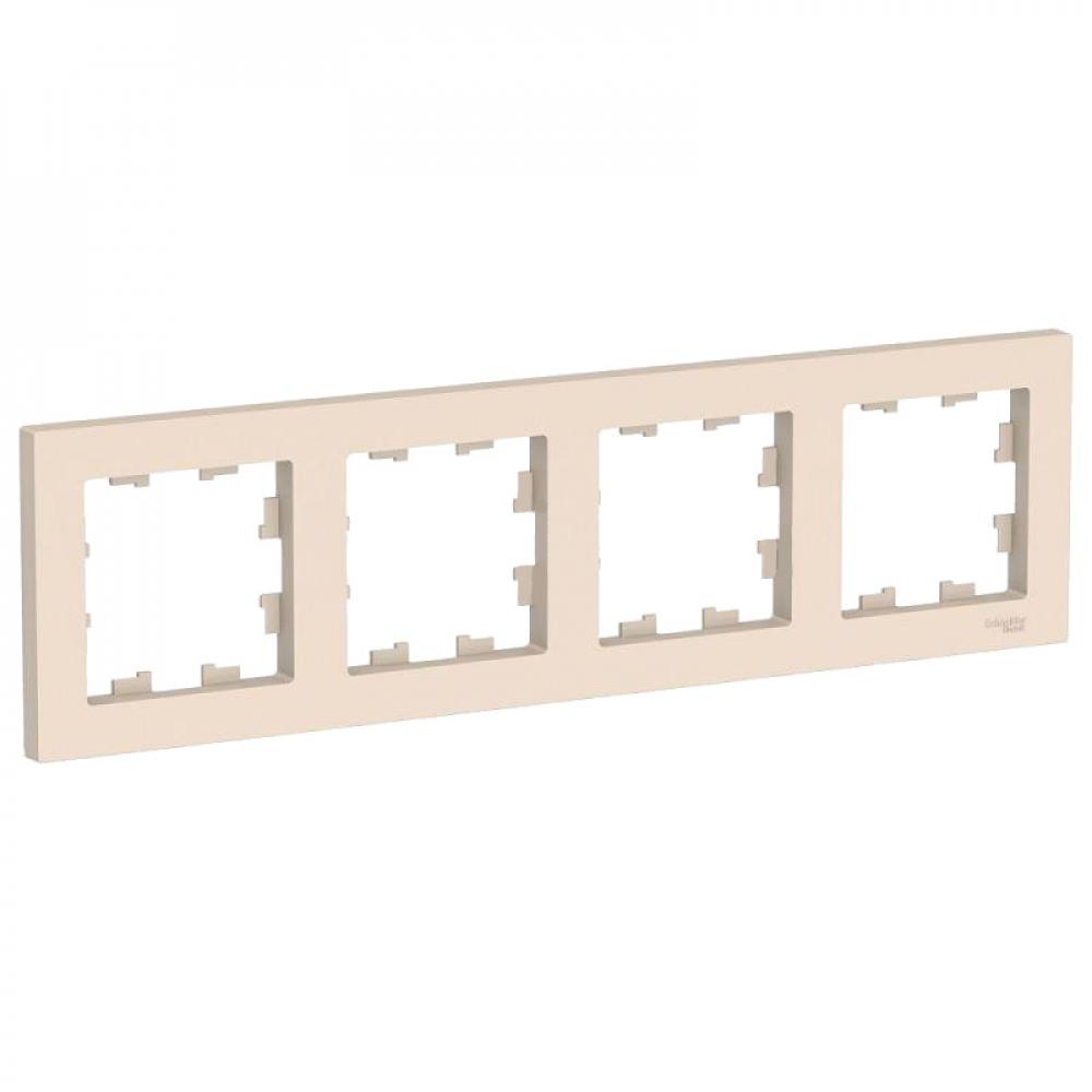 Купить 4-постовая универсальная рамка schneider electric atlasdesign бежевый atn000204