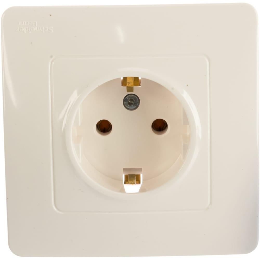 Купить Розетка schneider electric blanca с заземлением без шторок, молочный blnrs001012