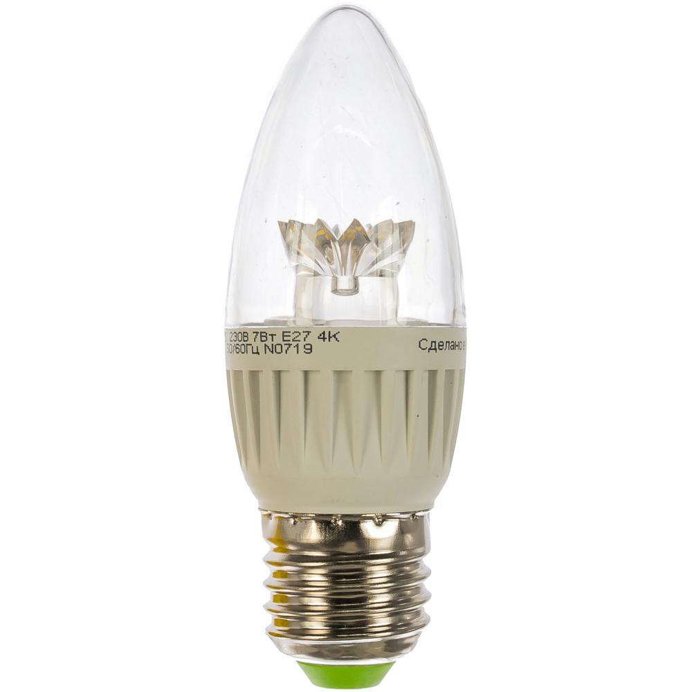Лампа navigator, nll-c37-7-230-4k-e27-cl 71851