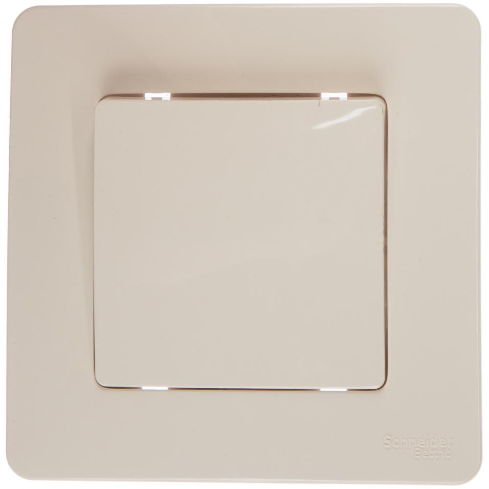 Купить 1-клавишный выключатель schneider electric blanca 10а, 250b, молочный blnvs010102