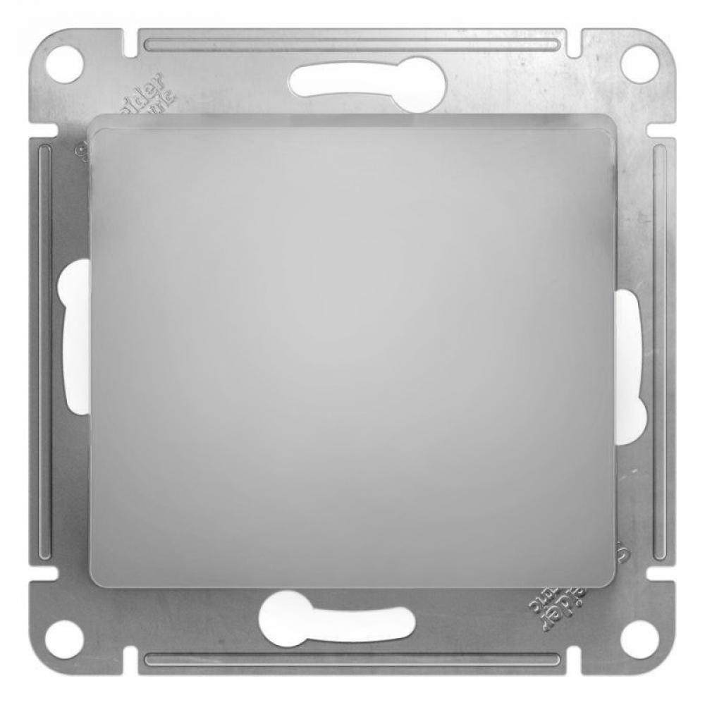 Купить 1-клавишный выключатель schneider electric glossa 10ах, алюминий gsl000311
