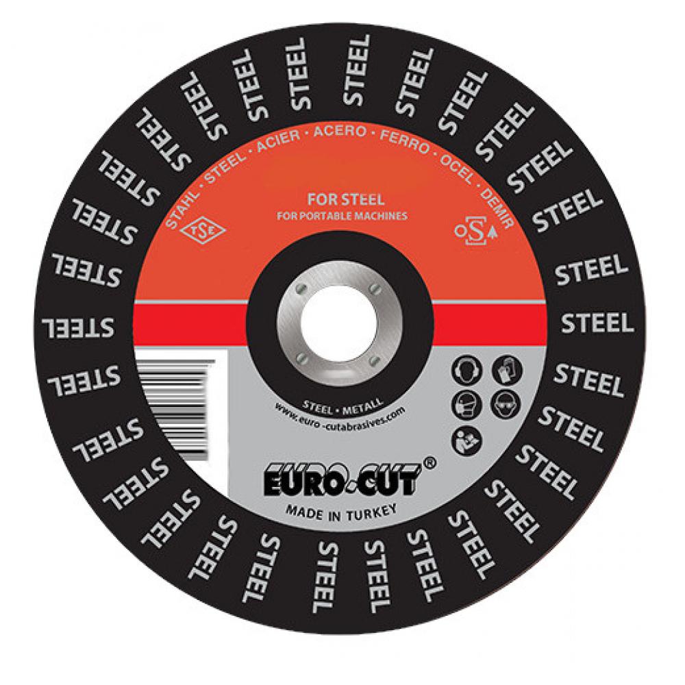 Купить Круг шлифовальный по металлу (125х6x22 мм) euro-cut 125-6.0