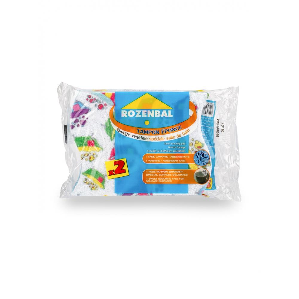 Натуральные губки с декоративной шкуркой для ванной rozenbal 2 шт., набор 4 шт. r141005/4