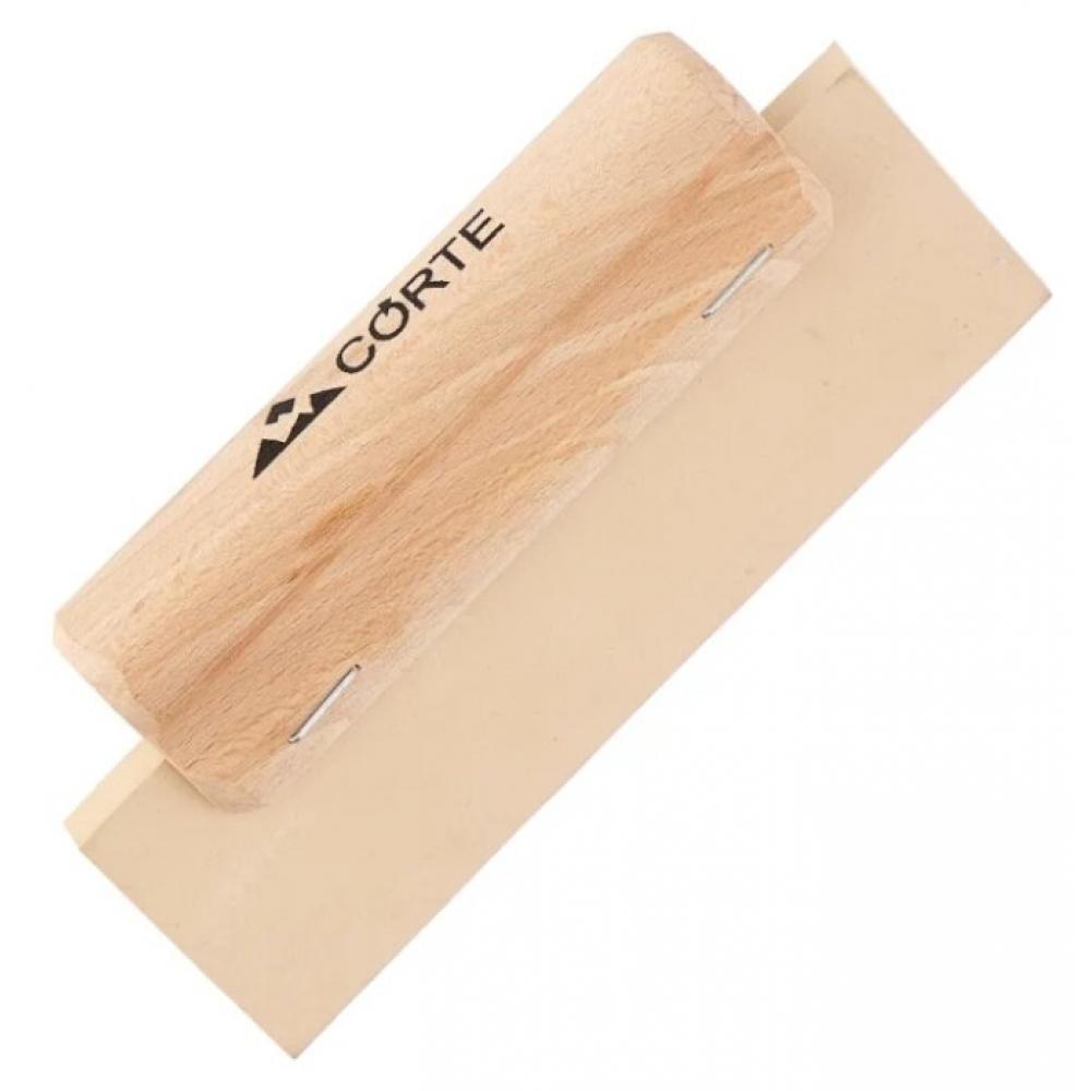 Купить Резиновый белый шпатель для цементной затирки corte 200 мм 0602c