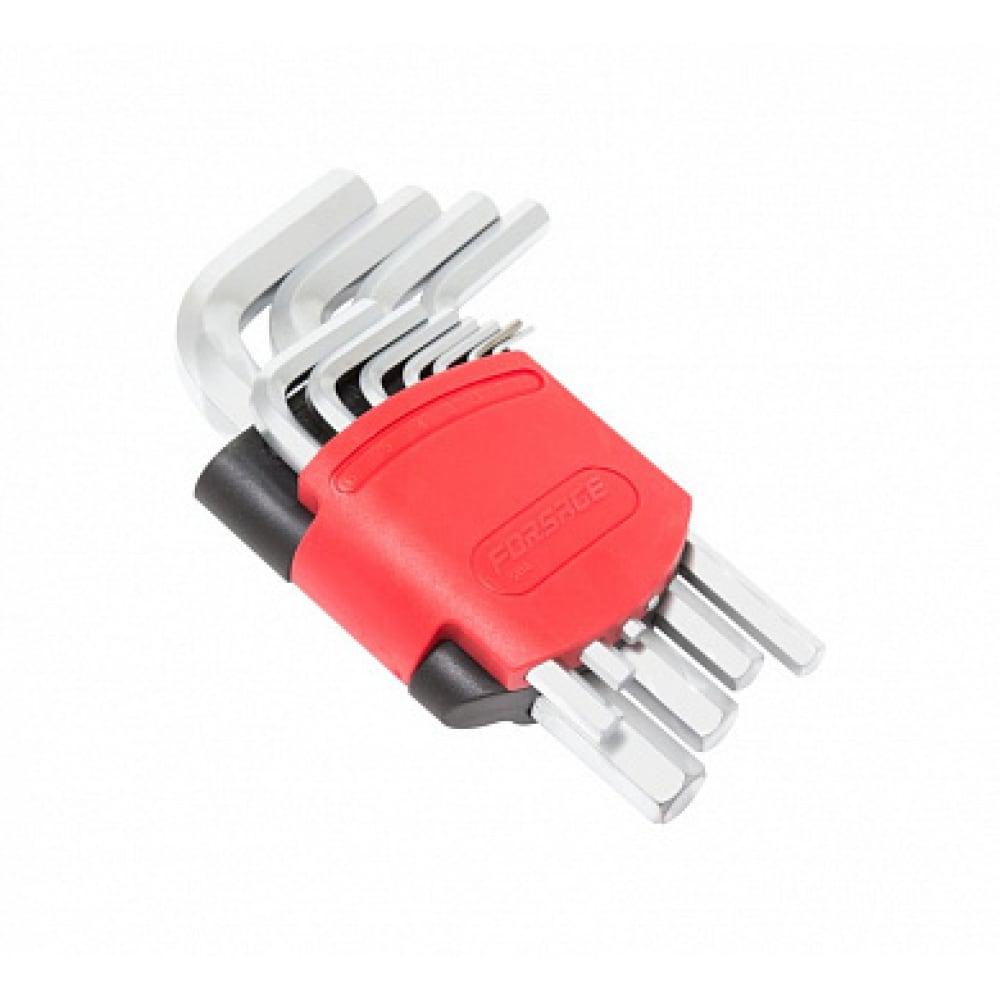 Купить Набор г-образных 6-гранных ключей forsage 11 предметов в пластиковом держателе 25504