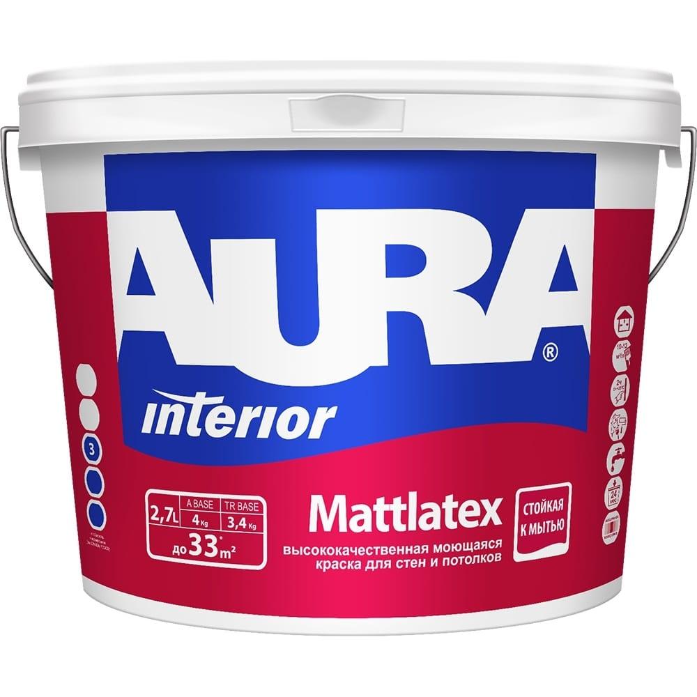Краска aura mattlatex 2,7л k0339