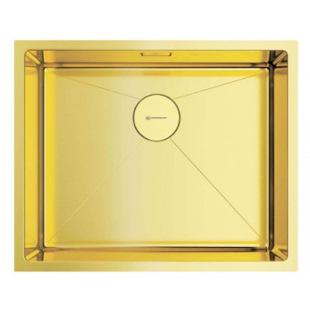 Кухонная мойка omoikiri taki 54-u/if-lg нержавеющая сталь/светлое золото 4973093