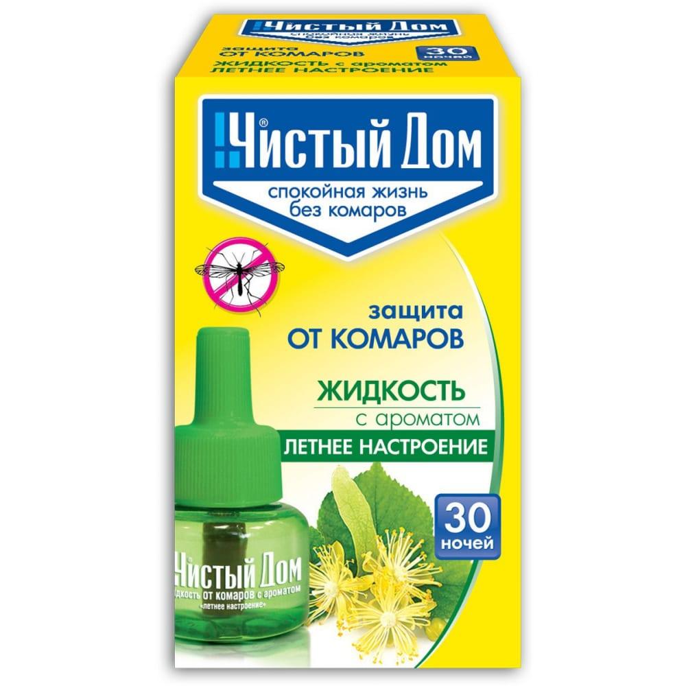 Жидкость от комаров чистый дом 30 ночей 02-622