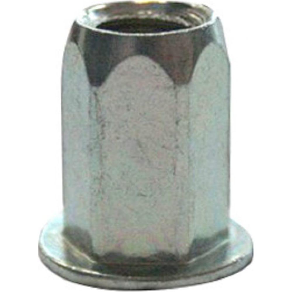 Купить Заклепка-гайка цки м 5 плоск. уменьш. шестигранная ст. ц под пакет 1.0-3.0мм 50402