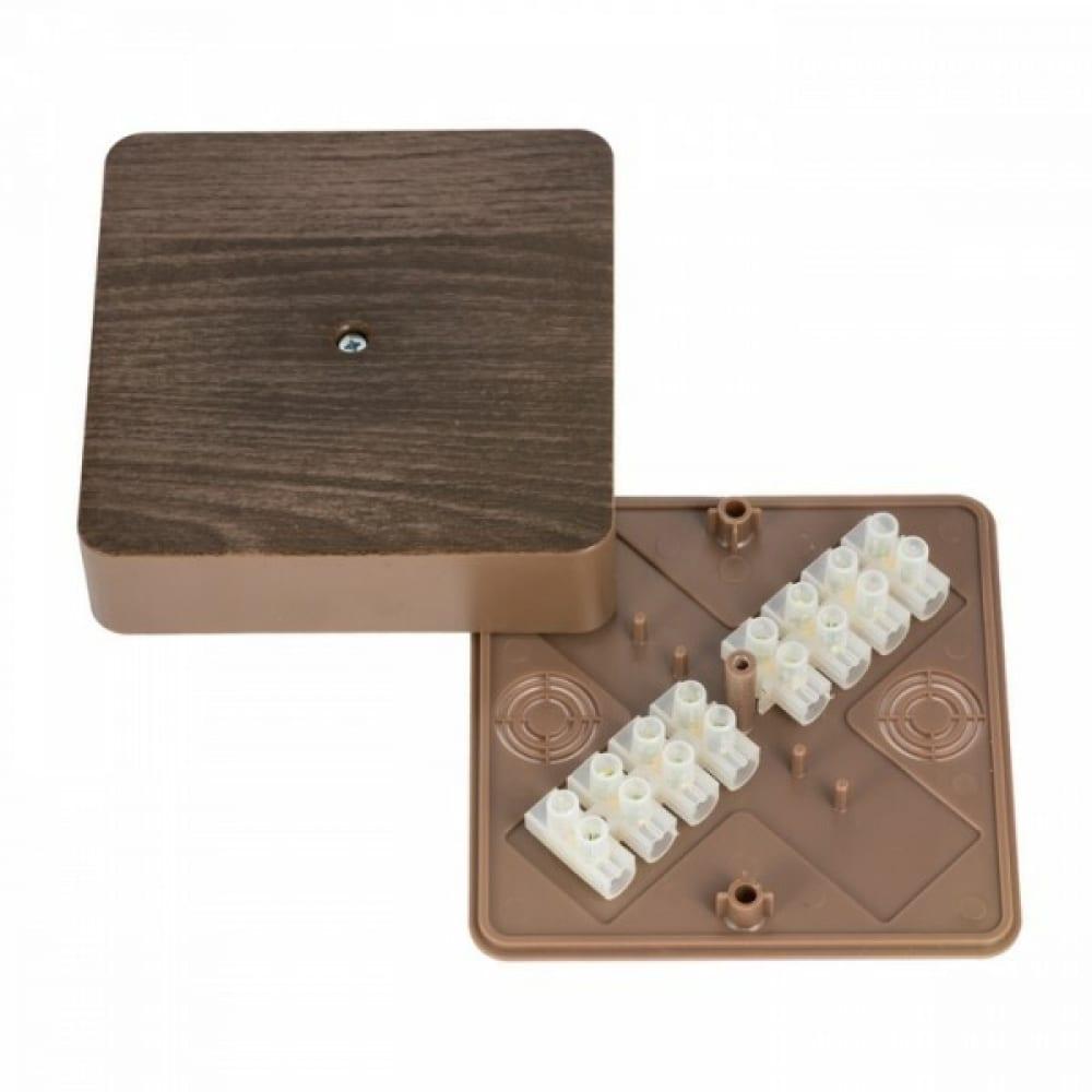 Разветвительная коробка ekf кмр-030-032кг с клеммником proxima тёмное дерево sqplc-kmr-030-032kg-t