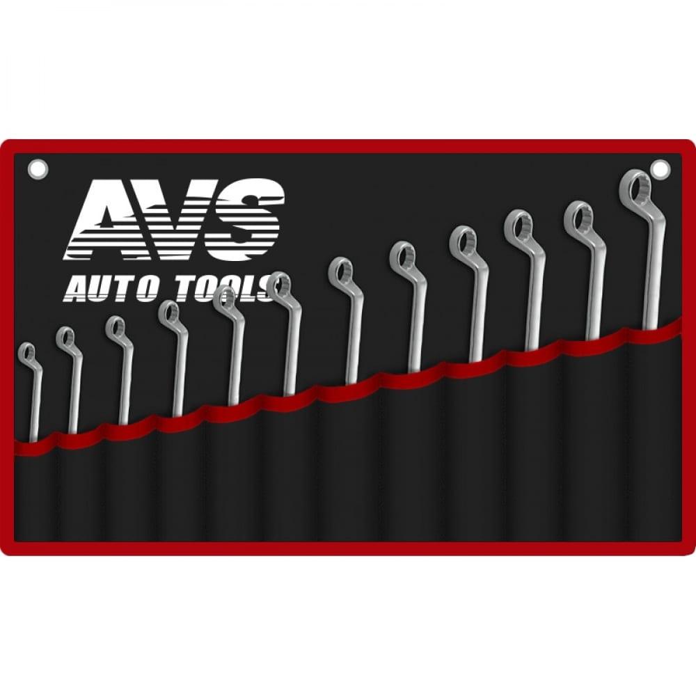 Купить Набор гаечных накидных изогнутых ключей в сумке avs 6-32 мм 12 предметов k2n12m a07652s