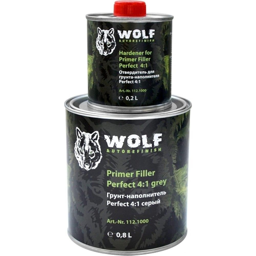 Грунт-наполнитель wolf perfect filler 4:1, серый 112. 1000