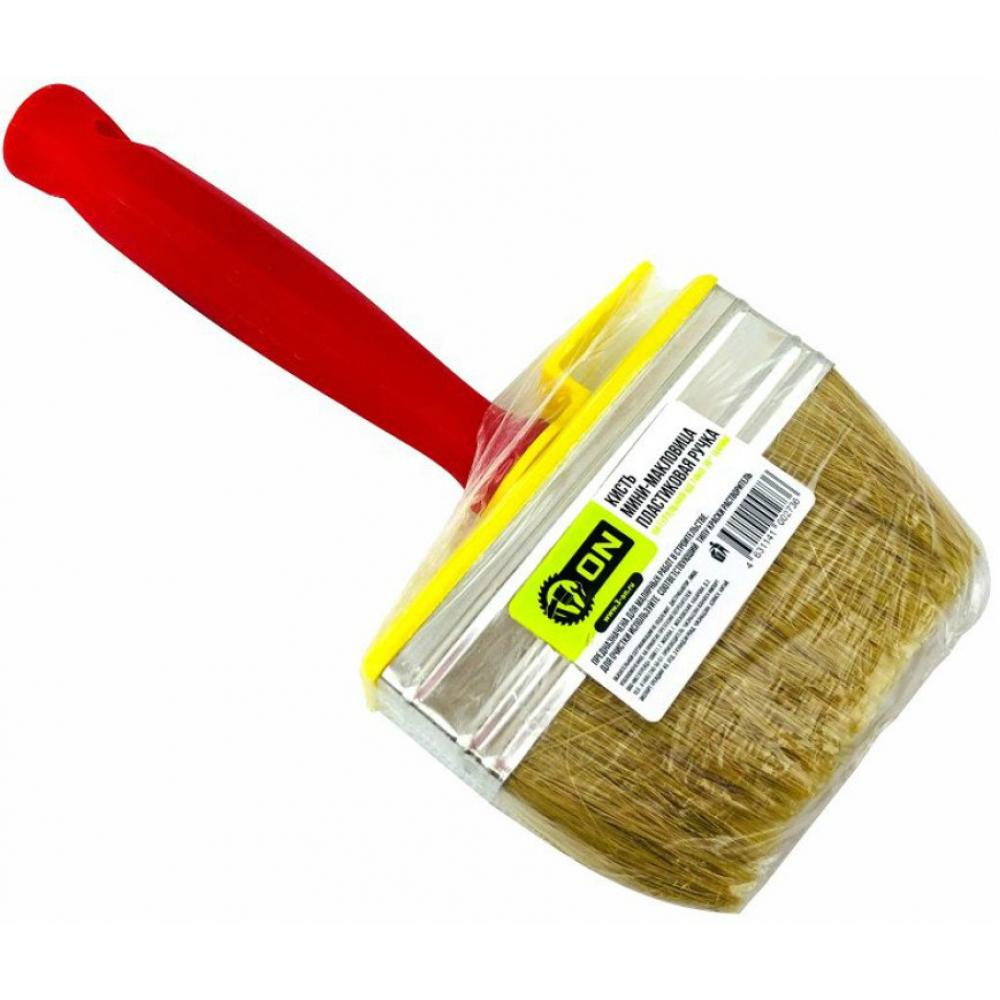 Купить Кисть мини-макловица on пластиковая ручка натуральная щетина 30х100мм. 02-01-610