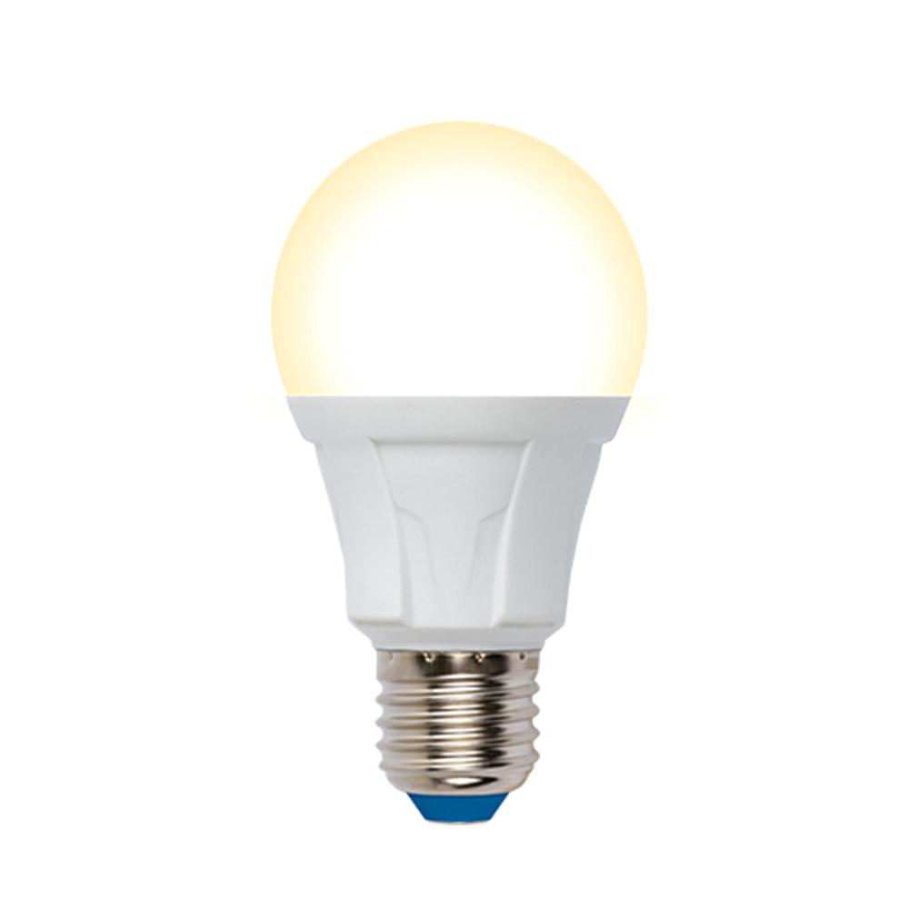 Лампа uniel led-a60, 10w/3000k/e27/fr/dim, plp01wh, светодиодная ul-00004287