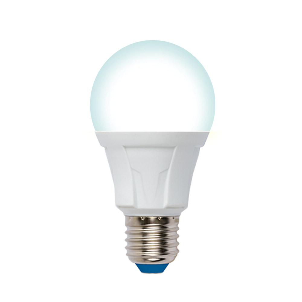 Лампа uniel led-a60, 10w/4000k/e27/fr/dim, plp01wh, светодиодная, диммируемая ul-00004286