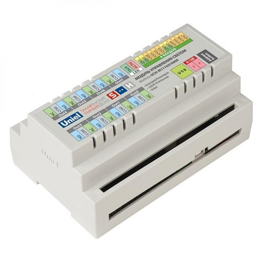Купить Модуль управления автоматикой uniel uch-m121rx/0808, rs485 порт, 8 входов/ 8 выходов 3829